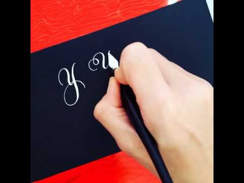 "Download Video Various ways to write the letter ""Y"" in calligraphy"