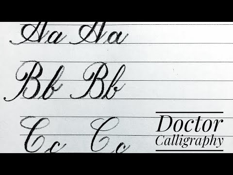 Download Video Writing cursive alphabet from Aa to Ee for beginners | Calligraphy| كيف تحسن خطك فى اللغة الانجليزية