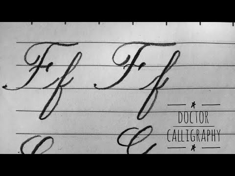 Download Video Writing cursive alphabet from Ff to Jj for beginners |Calligraphy | كيف تحسن خطك فى اللغة الانجليزية