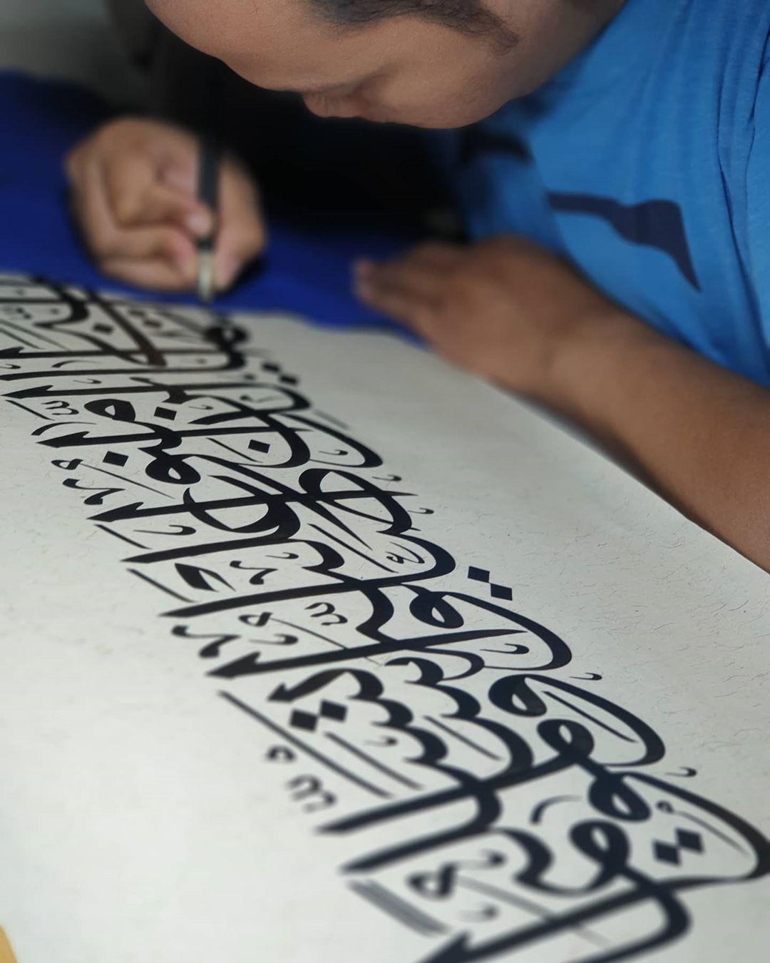 Karya Kaligrafi 2019…- Huda Purnawadi –  karya kaligrafi kompetisi Waraq Muqohhar