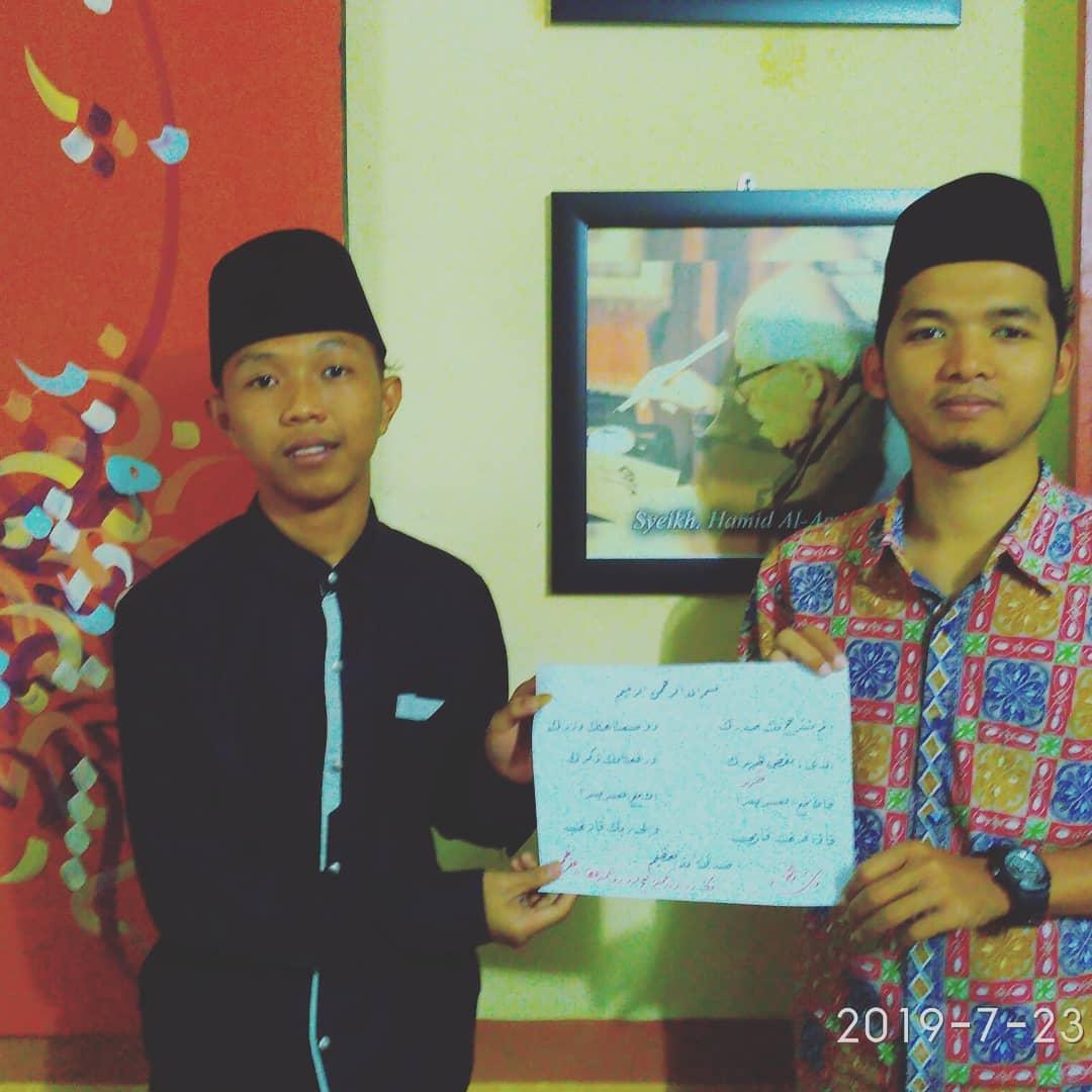 Nafang Utama Kaligrafer Indonesia Sukses Alhamdulillah… InsyaAllah siap menuju kurosah izzat… #Angga #sakal_jaya… 166