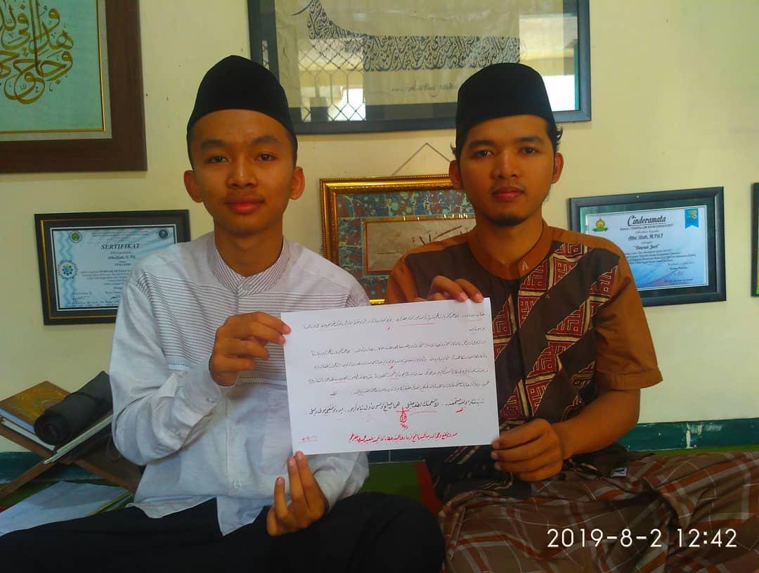 Nafang Utama Kaligrafer Indonesia Sukses Bi'idnillah… Masrur musyafa' telah menyelesaikan dars riq'ah… Luar biasa per… 172