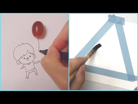 Download Video Amazing Art Skill Talented People #8 💕 Satisfying Drawing Watercolor! Best Calligraphy!  Lettering!