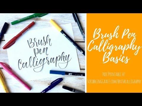 Download Video Brush Pen Calligraphy  Basics