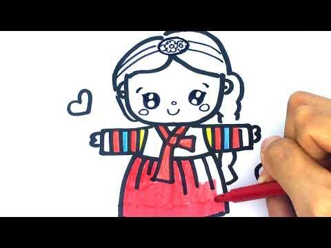 Download Video Cara gambar Korean Girl – Belajar gambar Untuk anak