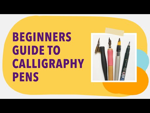 Download Video Choosing your first calligraphy pen – Calligraphy pens for beginners