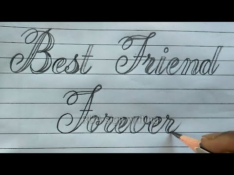 """Download Video Cursive-Calligraphy writing 