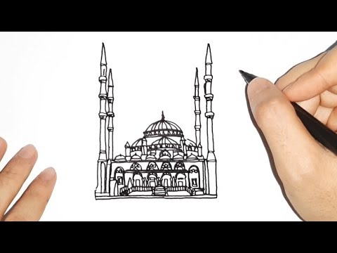 Download Video How to draw Mosque / Cara gambar gedung Masjid