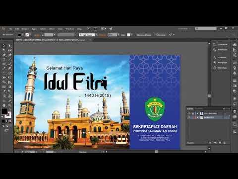 Download Video TUTORIAL DESAIN KARTU UCAPAN LEBARAN Instansi Pemerintah dengan Adobe Illustrator