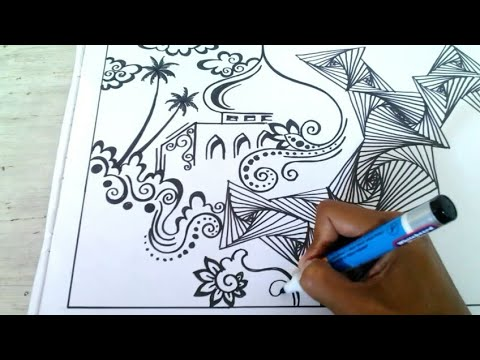 Download Video ZENTANGLE DENGAN NUANSA PEMANDANGAN