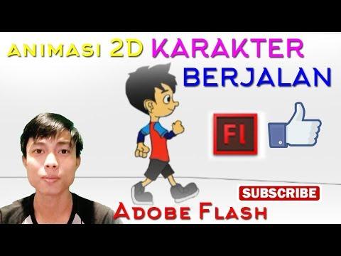 Download Video membuat karakter 2D dengan adobe flash