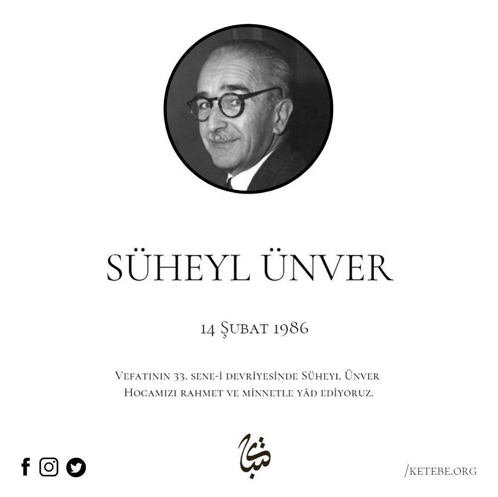 Apk Website For Arabic Calligraphy Vefatının 33. sene-i devriyesinde Süheyl Ünver Hocamızı rahmet ve minnetle yâd e… 318