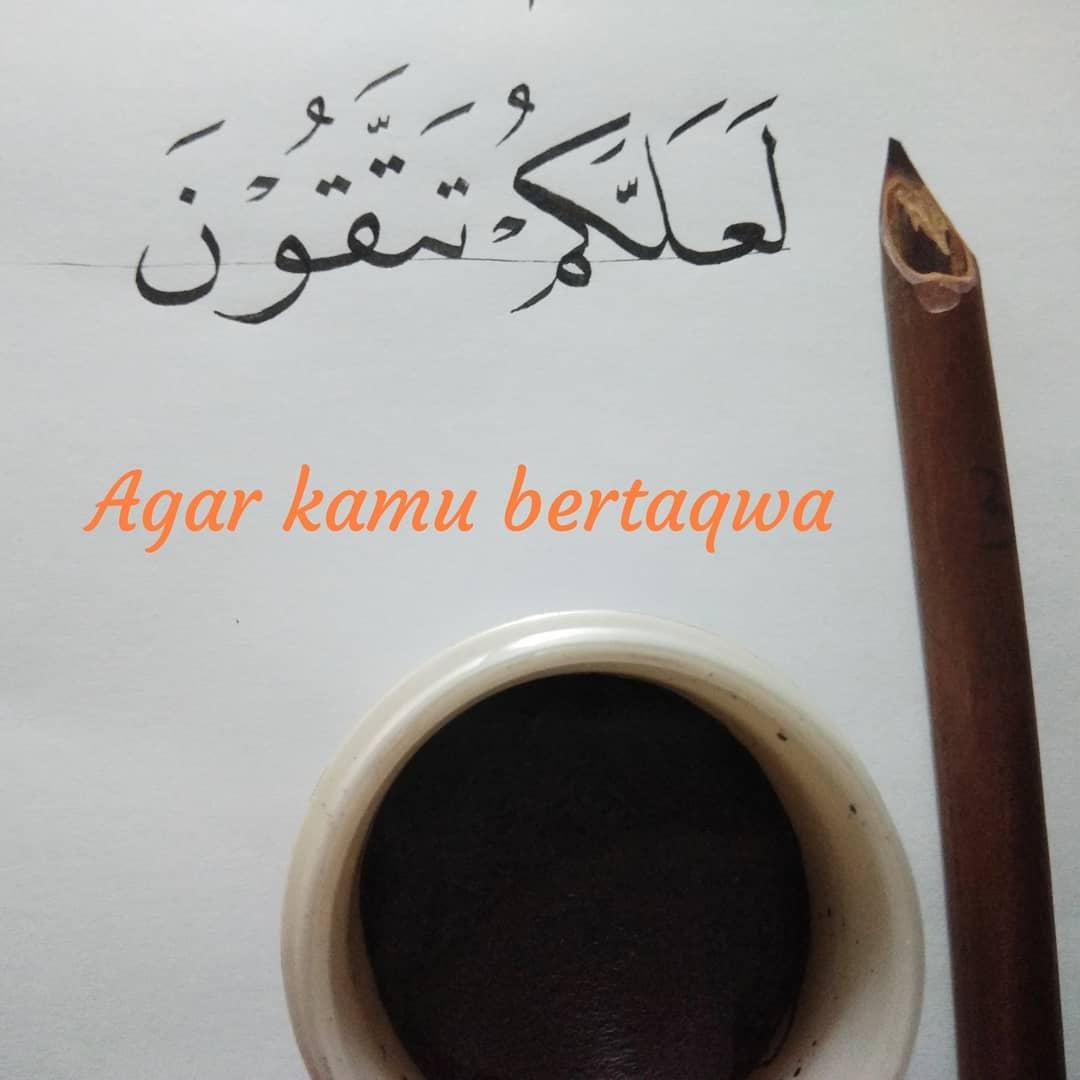 """Donwload Photo Kaligrafi """"Agar kamu bertaqwa"""" Tujuan berpuasa ramadhan #ramadhan #ramadhankarim #romadho…- Syamsul PKA Lemka"""
