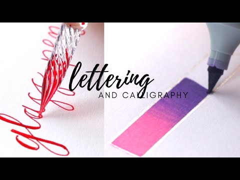 Download Video Calligraphy lettering drawing ideas ft. gradient marker ✨