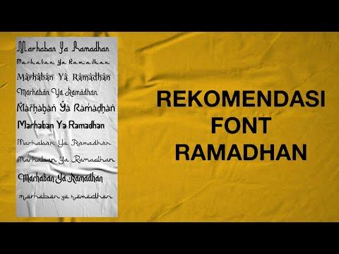 Download Video Font Ramadhan | Rekomendasi Font Ramadhan di Android