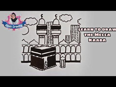 Download Video Menggambar Ka'bah| cara menggambar sketsa Ka'bah| Menggambar vector kabah| gambar Mekkah