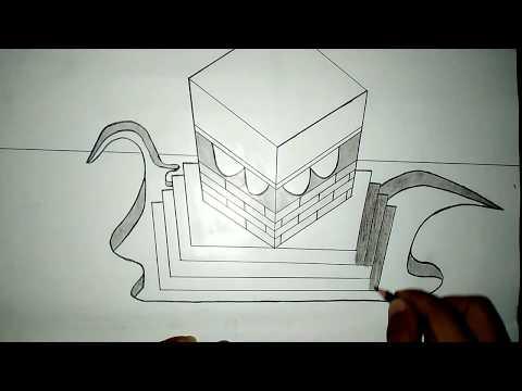 Download Video Menggambar ka'bah mudah / belajar menggambar Ka'bah /cara menggambar 3D Ka'bah