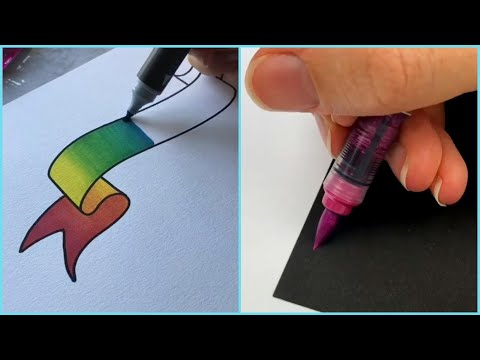 Download Video SATISFYING CALLIGRAPHY ASMR! LETTERING! Amazing Art! Calligraphy Masters! DRAWINGS gradient MARKER!