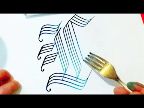Download Video SUPER SATISFYING VIDEO COMPILATION (FORK CALLIGRAPHY AND DRAWING)