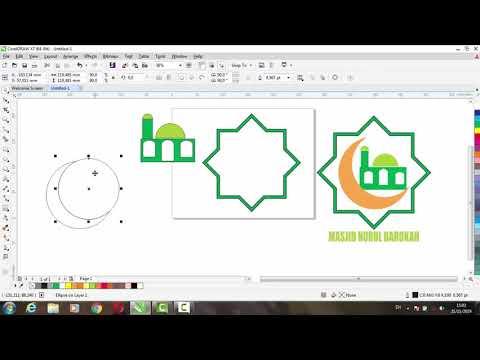 Download Video TUTORIAL MEMBUAT MASJID PART 3 DI COREL DRAW X7