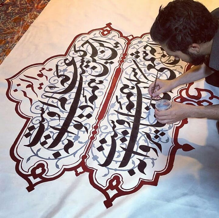 Farisi/Nasta'liq khatestan  ** #خطستان  #محرم @khatestan #خط_خودکاری#خط_خودکاری_نوین#خطاطی_باخودکار#خوشنویس… 186