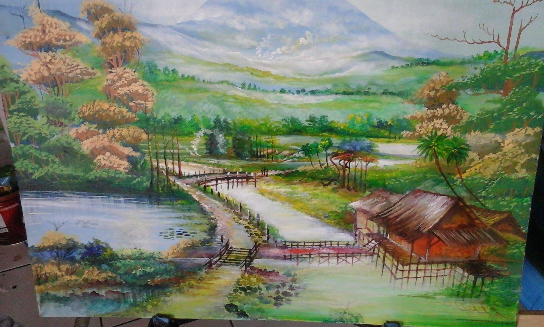 Kaligrafi Kontemporer Ustadz Poniman 10 nopember hari pahlawan 39 3
