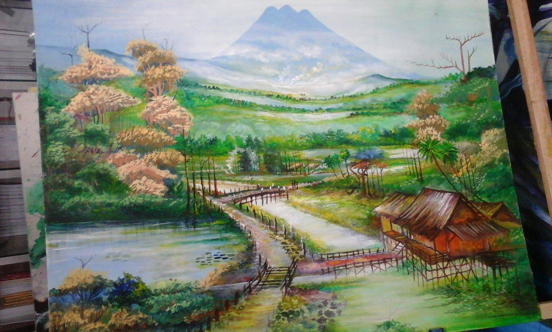 Kaligrafi Kontemporer Ustadz Poniman 1o nopember hari pahlawan…kapan hari…banjir ya.. 44