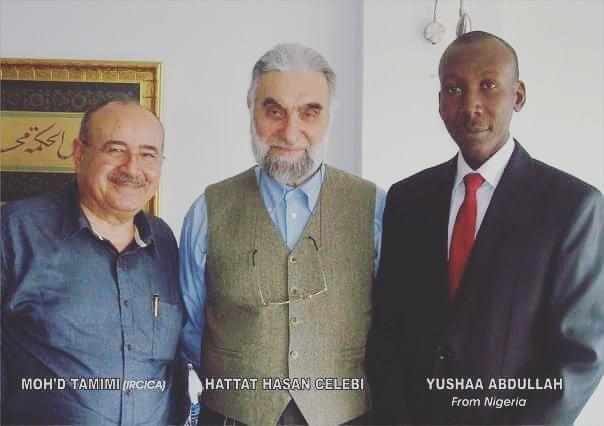 Donwload Photo Khat Unik Great Master Hattat Hasan Çelebi and Dr. Mohammed Tamimi…. – Yushaa Abdullah