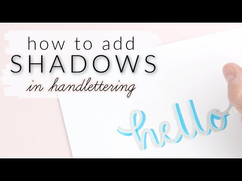 Download Video How To Draw Shadows in Hand Lettering | ADDING SHADING TO YOUR CALLIGRAPHY (easy!)