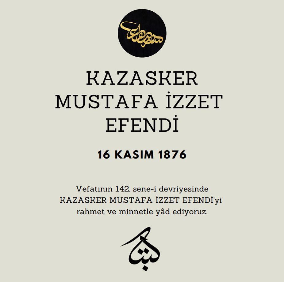 Apk Website For Arabic Calligraphy Vefatının 142. sene-i devriyesinde Kazasker Mustafa İzzet Efendi'yi rahmet ve mi… 334