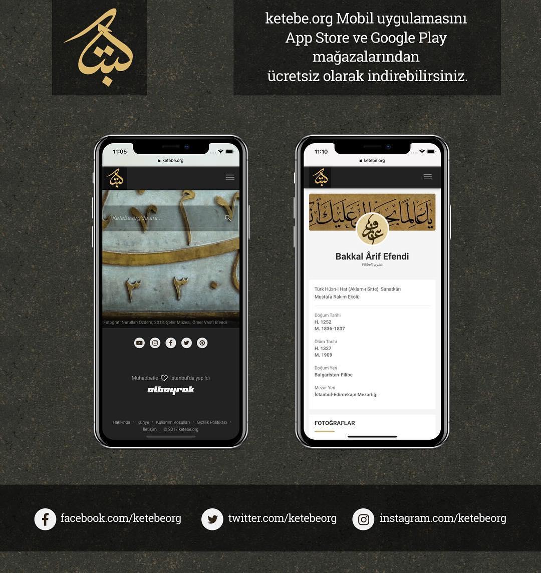 Apk Website For Arabic Calligraphy ketebe.org mobil uygulamasını App Store ve Google Play mağazalarından ücretsiz o... 192 1