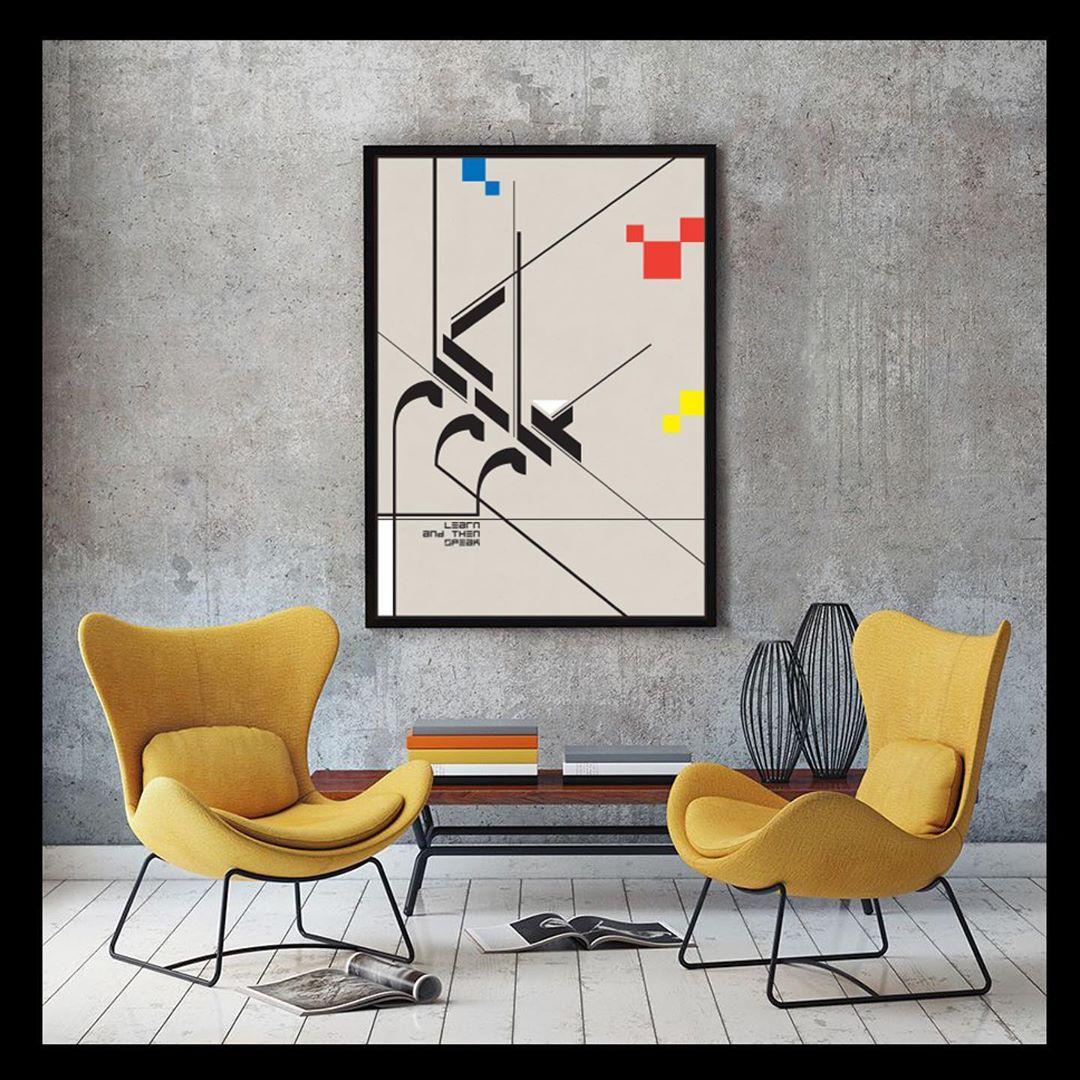 Download Kaligrafi Karya Kaligrafer Kristen Poster. #bauhaus #modernism #Geometry #tashkeel #disciplinedinsurgence #art #mod…-Wissam