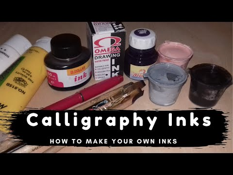 Download Video Calligraphy Inks/How to make Acrylic and Black Calligraphy Ink/Lesson 2/Islamic Calligraphy Series