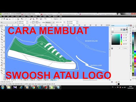 Download Video Cara membuat Swoosh atau Logo pada Sepatu menggunakan COREL DRAW