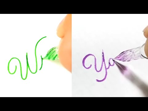 Download Video GLASS PEN CALLIGRAPHY (MODERN CALLIGRAPHY COMPILATION)