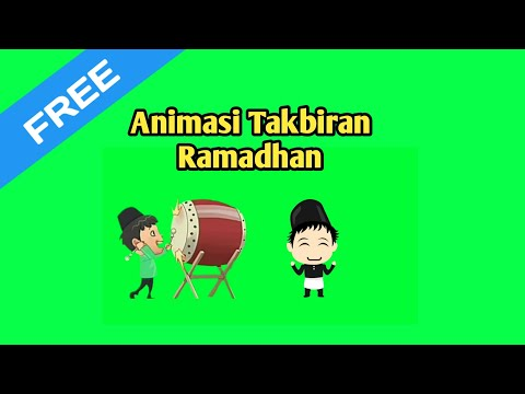 Download Video Green Screen Animasi Takbir Ramadhan Terbaru 2020 | Youtuber Hp