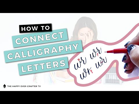 Download Video How To Connect Calligraphy Letters Into Words