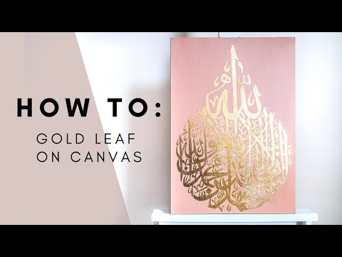 Download Video How To GOLD-LEAF Arabic calligraphy on Canvas – A Step-by-Step Tutorial | Qalb Calligraphy