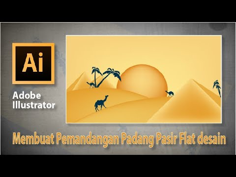 Download Video Illustrator – Pemandangan sunset di padang pasir