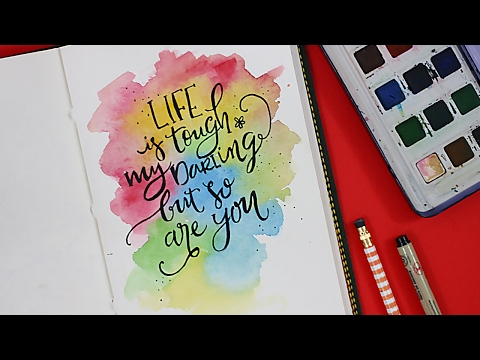 Download Video Modern Calligraphy + Watercolors | Paint with me