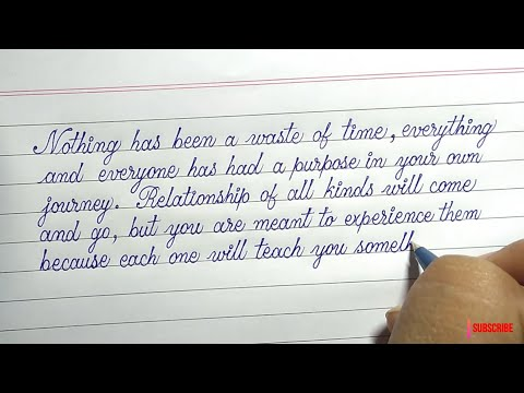 Download Video Simple Handwriting With Ball Pen | Easy Calligraphy Writing |