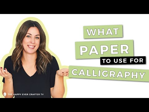 Download Video What Paper Is Best For Brush Pen Calligraphy?