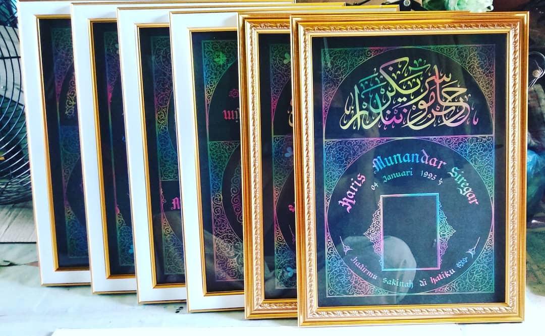 Works Calligraphy Taufik Hasibuan Alhamdulillah… Siap di serahkn ke pemiliknya… Minat chat aja ya.   Atau wa 0… 30