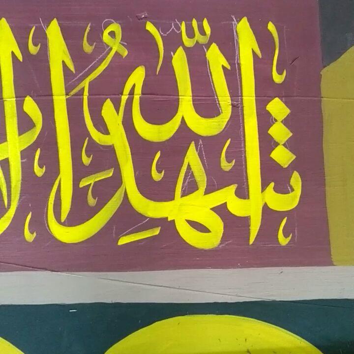 Works Calligraphy Taufik Hasibuan Buat panggung perpisahan sekolah... 50 1