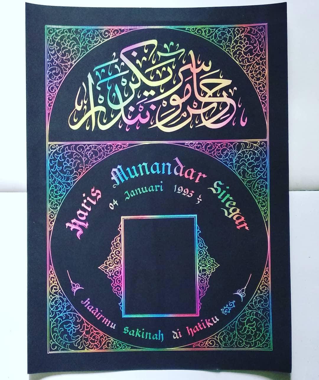 Works Calligraphy Taufik Hasibuan Kaligarfi nama….   Sayang anak,Sayang pasanagan, dll  #minat chat aja  Atau wa… 47