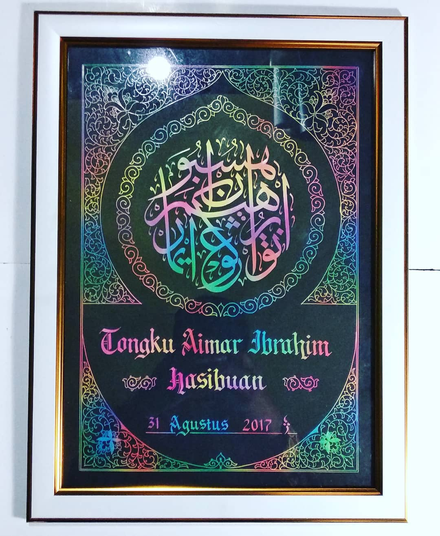 Works Calligraphy Taufik Hasibuan Yg sayang anak.. Sayang pasangannya.. Dll  Silahkn di order kaligrafi nama nya t... 70 1