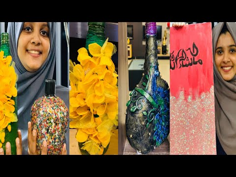 Download Video BOTTLE ART 🖊CALLIGRAPHY LOCKDOWN WORKS HOME DECORS