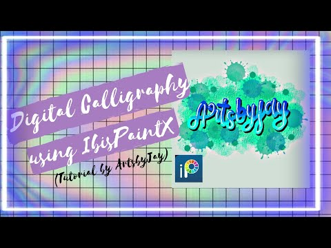 Download Video How to Make  Calligraphy in IbisPaintX ? (Digital Calligraphy)