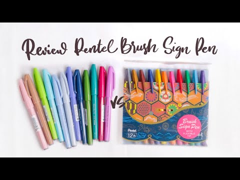 Download Video Review | Bút Viết Calligraphy Pentel Brush Sign Pen #Pastel 2020 | Bullet Journal Supplies