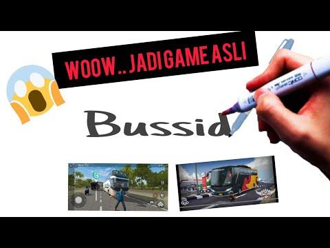 Download Video menggambar kata BUSSID ( Oleng ) menjadi gambar game bussid V3.3 update